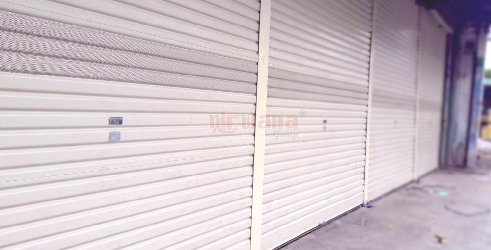 Harga Rolling Door One Sheet Semi Polos Full Peforated