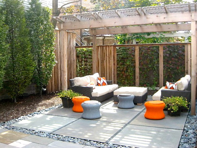 patio ideas with firepit