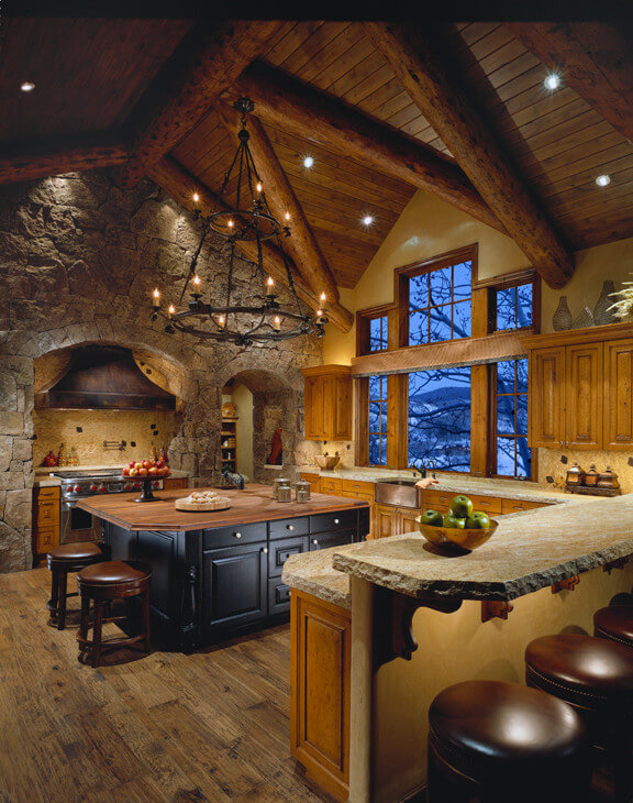 rustic basement kitchen ideas