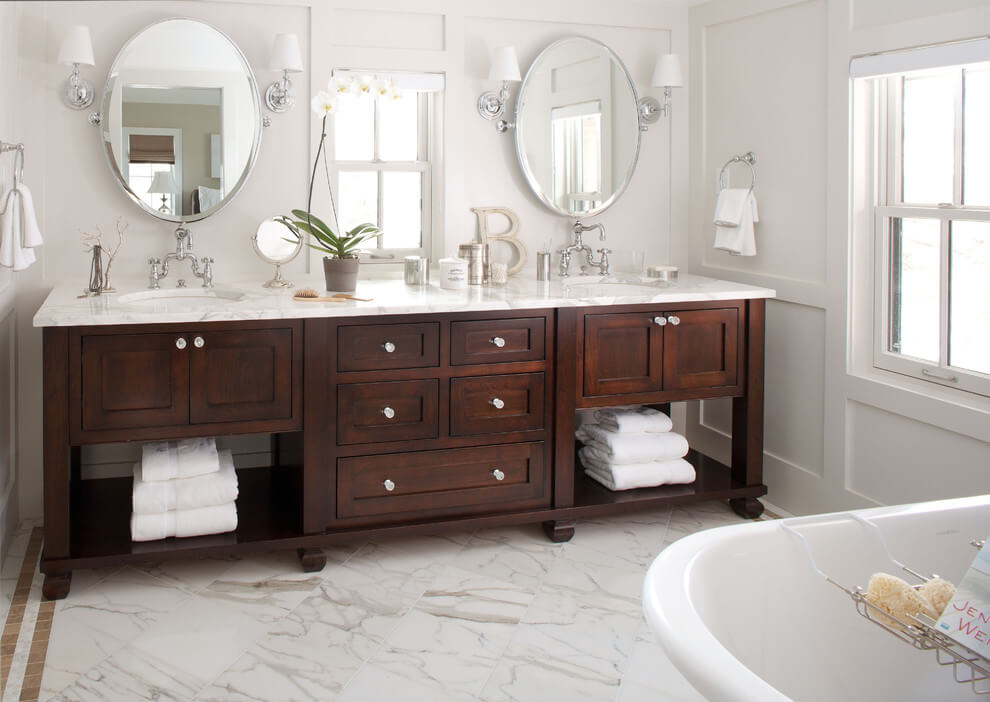 double bathroom vanity top