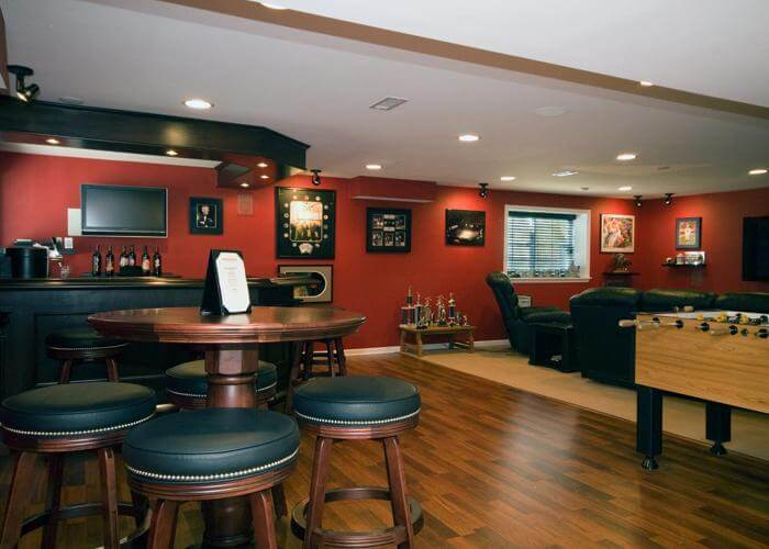 Unfinished Basement Ideas for The Entertainment Room