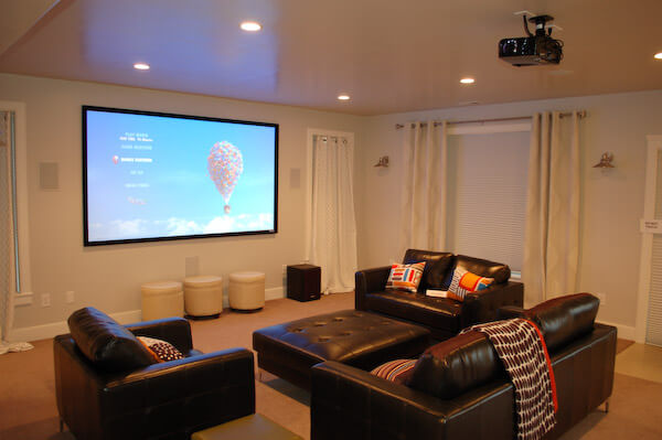Unfinished Basement Ideas for Family Room