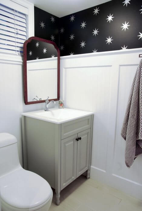 Unfinished Basement Ideas for a Bathroom