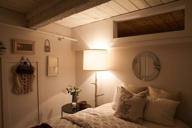 Unfinished Basement Ideas for Guest Room